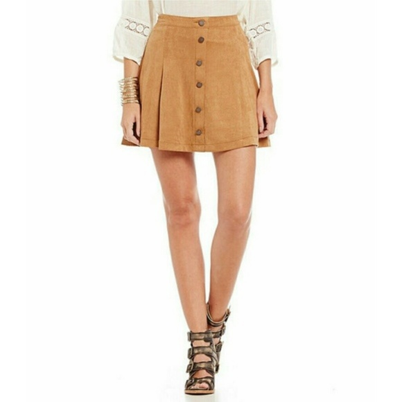 Jolt Dresses & Skirts - Jolt Faux Suede Skirt